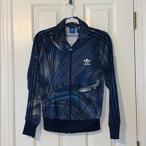 Blue, MARBLE detailed, ADIDAS sweat jacket.